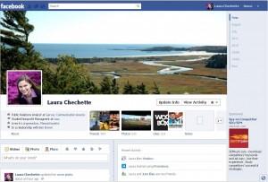 Facebook Timeline Screen Shot, Laura Chechette