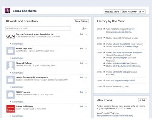 Facebook Timeline, Information Section Laura Chechette