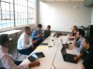 GCAi founder John Garvey discusses digital marketing with fintech startups at the recent Startupbootcamp.org event in Boston.