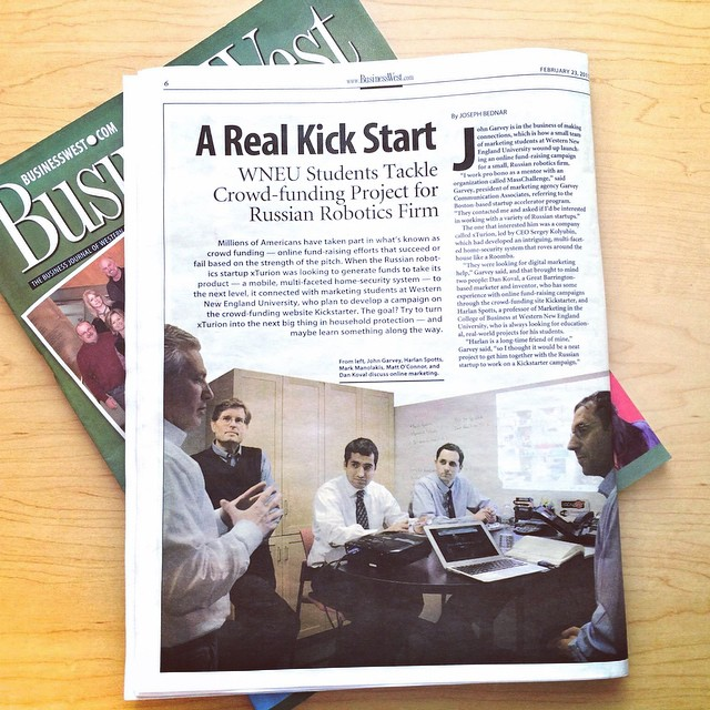 WNEU Students worked with us to tackle a #Kickstarter campaign for a Russian robotics firm! ? #GCAiPlanet
